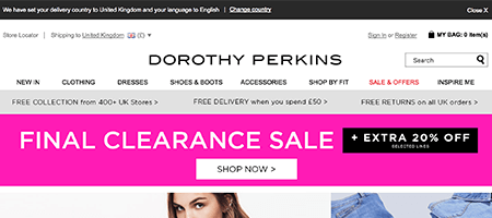 Shops Like Dorothy Perkins